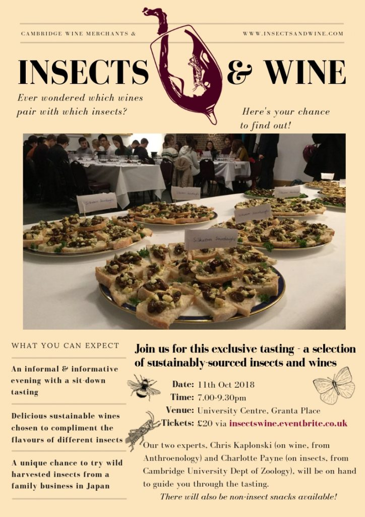 Insects and Wine Tasting at Cambridge Wine Merchants